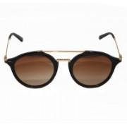 TOMMY HILFIGER Round Sunglasses(Brown)