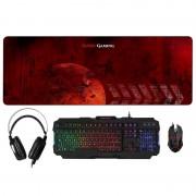 Tacens Mars Gaming Combo Gaming Teclado + Rato + Headset + Tapete XXL
