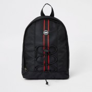River Island Boys Black RVR tape large backpack (One Size)