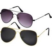 Freny Exim Aviator Sunglasses(Black, Violet)