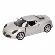 Alfa Romeo Speelgoed zilveren Alfa Romeo 4C 2013 auto 12 cm
