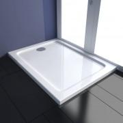 vidaXL Rectangular ABS Shower Base Tray 80 x 100 cm