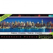 Buffalo Games Panoramic Puzzle New York City Glow in the Dark - 750pc Jigsaw Puzzle Toy Kids Play Children