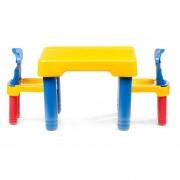 Mesita de Actividades para Niños Niñas con Sillas Incluidas-Amarillo con Azul