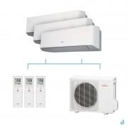 FUJITSU climatisation tri split mural gaz R410A LMCE 5,4kW ASYG7LMCE + ASYG9LMCE + ASYG14LMCE + AOYG18LAT3 A++