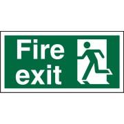 Unbranded Fire Exit Sign Left Arrow Plastic 15 x 30 cm