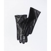 Etam Gants en cuir - SHINY - L - Noir - Femme - Etam