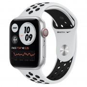 Apple Watch Nike Series 6 GPS + Cellular 44mm Alumínio Prateado Bracelete Nike Sport Platina Puro/Preto