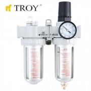 Пневматичен филтър с регулатор и омаслител Troy