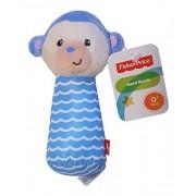 Fisher Price Soft Plush Hand Rattle Lil Nuzzler Blue Monkey