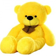 Super Cute Yellow 4 Feet Teddy Bear Yellow Teddy Bears Huggable And Loveable For Someone Special