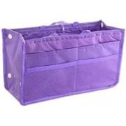 venja Multi Purpose Travel Nylon Hand Bag Cosmetic Pouch Makeup Organizer Travel Toiletry Kit(Purple)