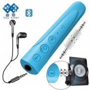 YOU FIRST 3.5mm Bluetooth Earphone Receiver Kit Handsfree Audio Music AUX Car Bluetooth Headphone Wireless With Microphone