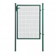 [pro.tec]® Kertkapu kiskapu kerti ajtó 175 x 106 cm acél drót 3 kulccsal zöld