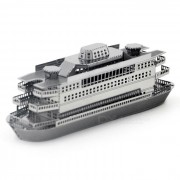 Bricolaje 3D rompecabezas 3D montado ferry modelo de juguete educativo - plata
