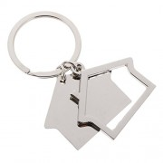 NF&E Simple House Pendant Key Ring Keychains Kids Xmas Gifts Keychain Kid Silver