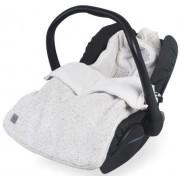 Sac de dormit tricotat Jollein Confetti pentru scaun auto si carucior 025-811-65142, Bumbac (Bej)