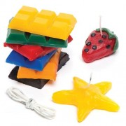 Candle Making Kit - 240g Candle Wax in 6 colours. Includes wax, wicks and instructions to make up to 15 candles