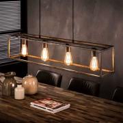 Deckenlampe in Altsilberfarben Metall
