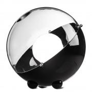 KOZIOL Stojací lampa ORION - černá barva s průhledným krytem, KOZIOL