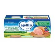 Mellin Omogeneizzati di carne - Prosciutto - Confezione da 160 g ℮ (2 vasetti x 80 g)