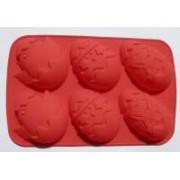 Húsvéti tojás sütőforma, szilikon piros (12343)