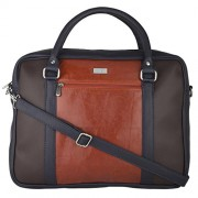 Blue Color Laptop Bag With Tan Front