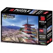 National Geographic Puzzle 3D - Honšu otok 500 kom 61x46cm National Geographic