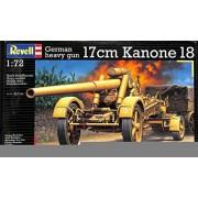 Revell 1:72 German Heavy Gun 17cm Kanone 18 K-18 Plastic Model Kit #03176