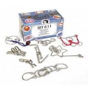 Puzzle Metalic Set 8 in 1 la cutie - Colectia Calatorului