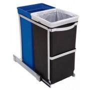 CW1016 35 literes szekrényből kihúzható szelektív szemetes