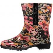 Apollo Halfhoge dames regenlaarzen luipaard/bloemen print