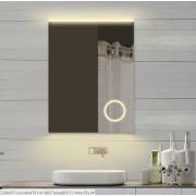 Neuesbad LED Lichtspiegel mit Schminkspiegel, Lichtfarbe wählbar, B:600, H:800 mm NBSP257