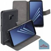 Pearlycase® Zwart Y Wallet Bookcase Hoesje voor Samsung Galaxy A8 Plus 2018