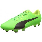 Puma Men's Evopower Vigor 4 Fg Green Gecko, Puma Black and Safety Yellow Football Boots - 10 UK/India (44.5 EU)