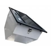 Airmec BUILT-IN 50 MAX VETRO fekete felső szekrénybe vagy kürtőbe építhető páraelszívó