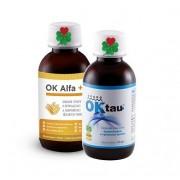 OKG OK Alfa+ 115 ml. + OK Tau+ 115 ml ( pro močové cesty, játra, dobré vylučování )