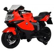 Getbestâ® 12V Bmw K1300S Battery Operated Ride On Bike For Kids, Red, 2-Piece