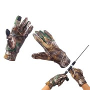 ZANLURE XY-460 25cm Non-slip Outdoor Fishing Gloves Touch Screen Hunting Camping Camouflage Gloves