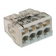 Set 10 conectori cu fixare prin impingere 8 conductoare 2,5mm2 24A Wago 2273-208 (Wago)
