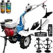 Motocultor AGT 7500 Honda GX200 6.5CP freze 90cm roti cauciuc rarita roti metal plug cartofi plug arat + 1l Ulei motor + 1l Ulei transmisie
