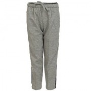 Haig-Dot Grey Open Bottom Track Pant For Girls
