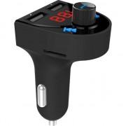 Kit auto hands-free 3-in-1, Gembird BTT-03, bluetooth v.4.2, modulator FM, incarcator USB 3.1A, player microSD si USB, voltmetru, negru