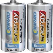 Set 2 baterii alcaline C, 1,5 V, Conrad energy