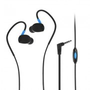 Универсални слушалки (с микрофон) 3.5mm - модел SP93 (черно-синьо)