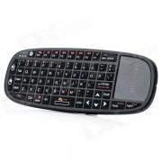RII mini bluetooth inalambrico bluetooth 66 tecla teclado mouse combo w / luz laser para HTPC / ipad