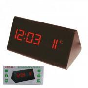 Ceas Digital de Birou Aspect Lemn 220V Data, Ora,Temperatura VST861
