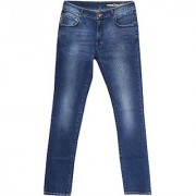 Dharod slim Fit Men Jeans material cotton blue in color pattern solid