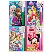 Disney's Characters Magic Pen Painting Activity Books, Set for Girls. Includes: Sisters Forever Frozen, Princess...