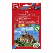 Creioane colorate 36 culori + ascutitoare Eco Faber-Castell